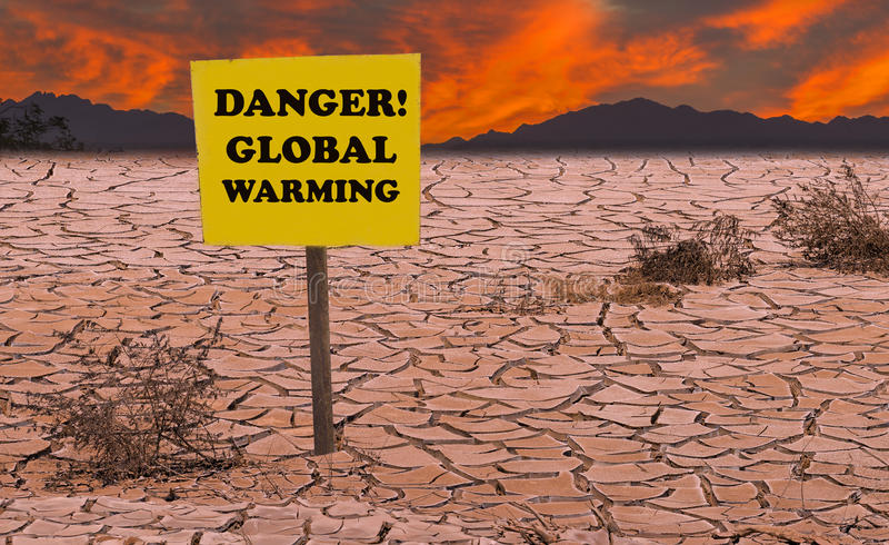 La chaleur rouge ou horreurs du réchauffement global images libres de droits