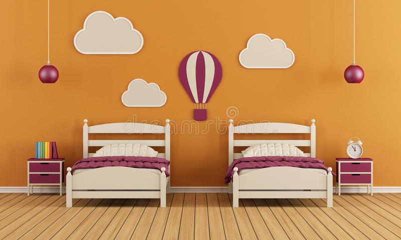 La chambre à coucher des enfants illustration stock