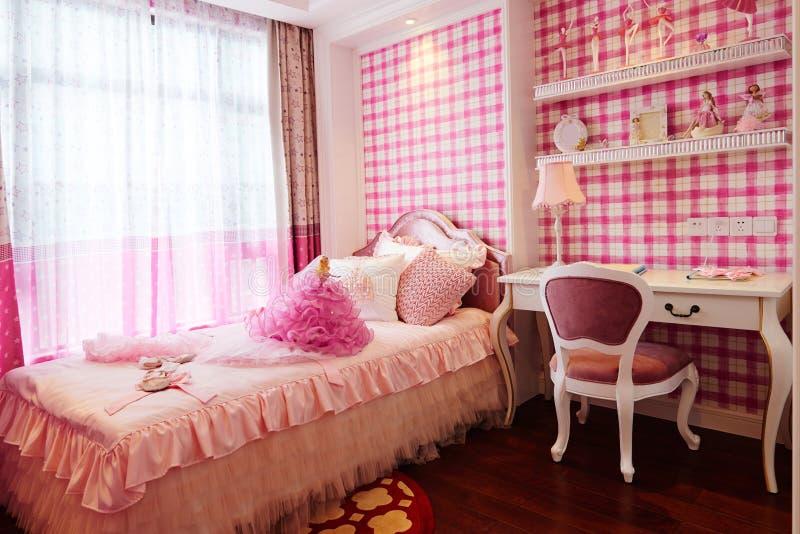 La chambre à coucher des enfants photos libres de droits