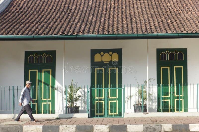 La Chambre avec 3 portes vertes : La beauté de la vieille conception image stock