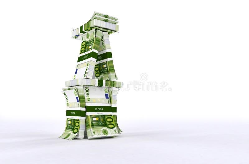La Chambre de l'argent aiment la maison des cartes image libre de droits