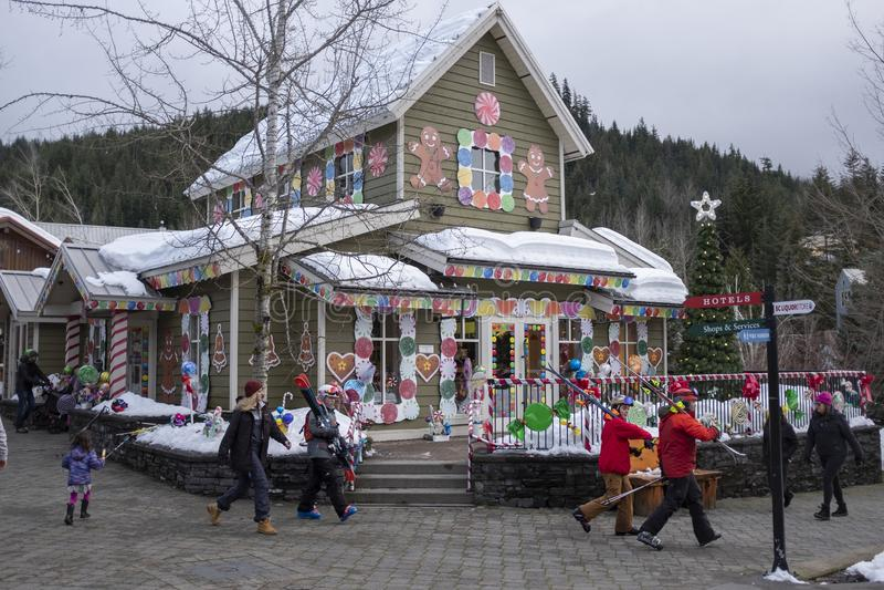La Chambre de pain d'épice de Whistler avec les festins doux à l'intérieur de 2019 image libre de droits