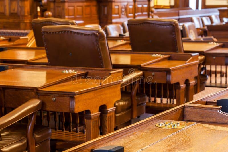 La chambre des représentants la chambre du bâtiment de Texas State Capitol situé dans Austin du centre photo libre de droits