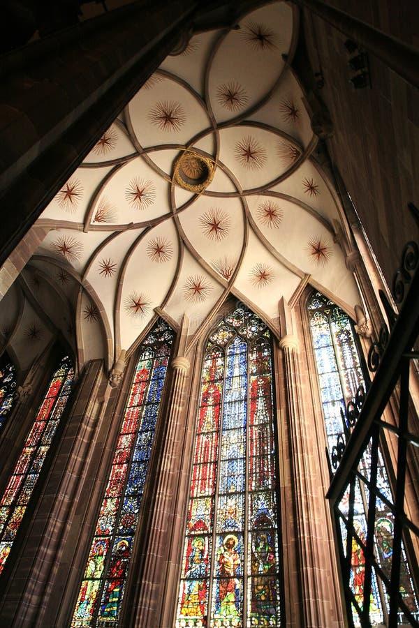 La chambre forte de la cathédrale - Strasbourg photographie stock libre de droits