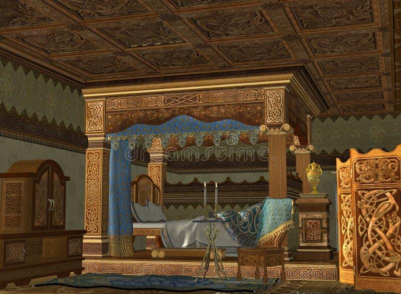 La chambre royale de bâti illustration stock