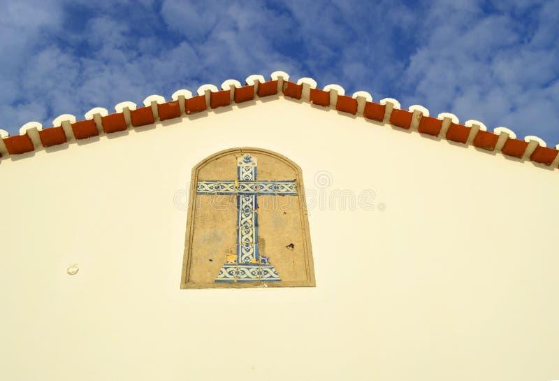 La chapelle de l'extrémité de pignon de Nossa Senhora DA Rocha images libres de droits