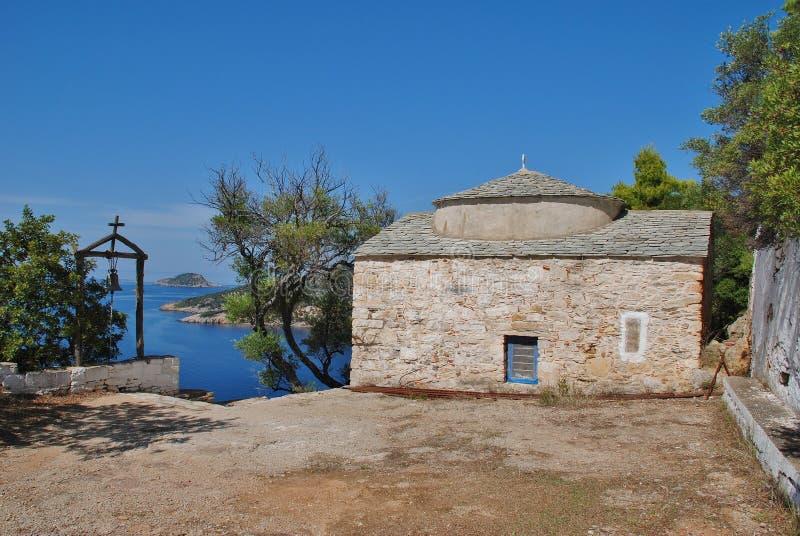 Agios Kosmas, île d'Alonissos image stock