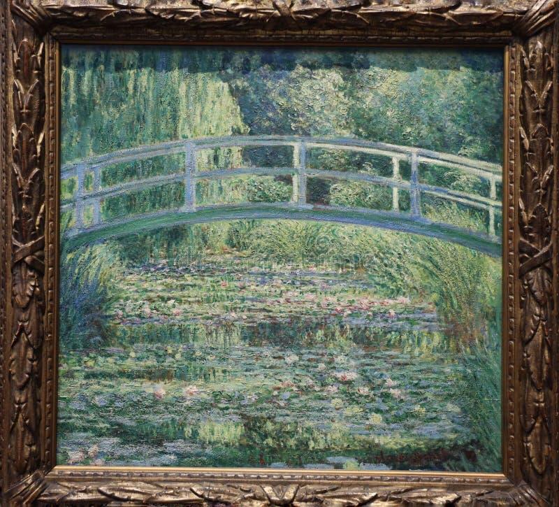 La charca del lirio de agua de Claude Monet, 1899 fotografía de archivo libre de regalías