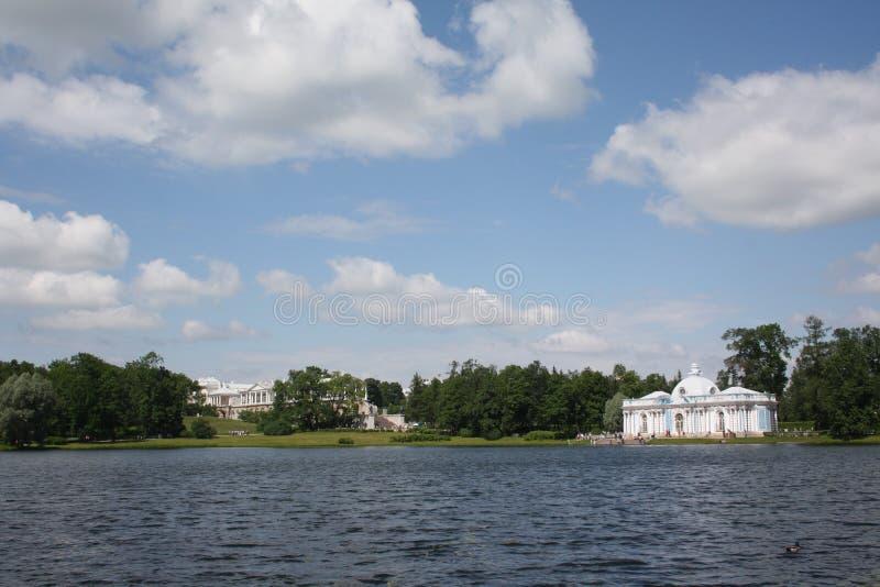 La charca en Tsarskoye Selo imagen de archivo libre de regalías