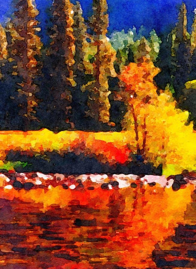 La charca hermosa de Yosemite ilustración del vector