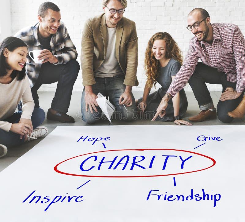 La charité donnent le concept d'amitié d'inspiration d'espoir photographie stock