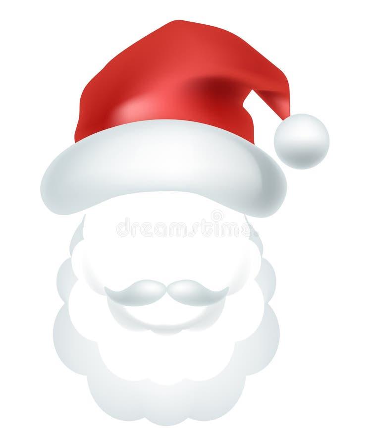 La charla video Santa Claus hace frente a la plantilla del icono del vector de la máscara de la foto del efecto del selfie stock de ilustración