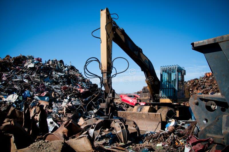 La chatarra del hierro condensó para reciclar foto de archivo libre de regalías
