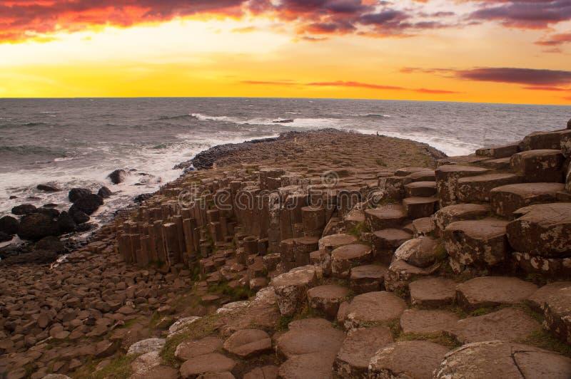 La chaussée du géant, Irlande du Nord photographie stock