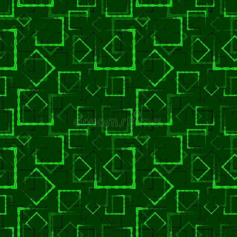 La chaux a découpé des places et des cadres pour un fond ou un modèle vert abstrait illustration de vecteur