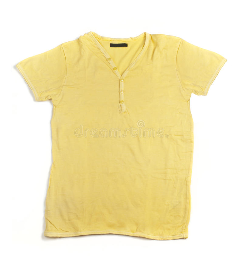 La chemise d'hommes jaunes photographie stock libre de droits