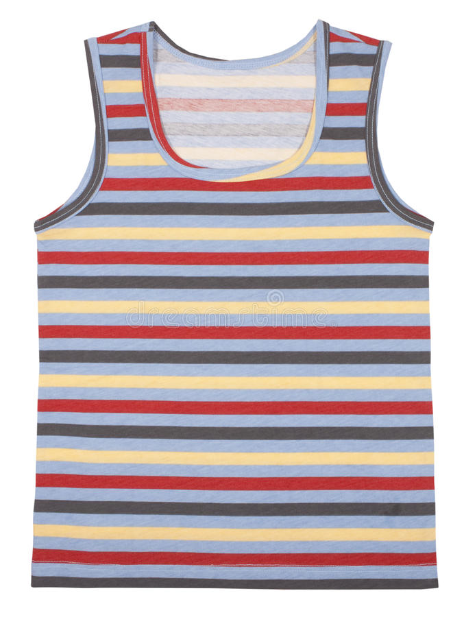 La chemise sans manche des enfants d'isolement sur le blanc images libres de droits