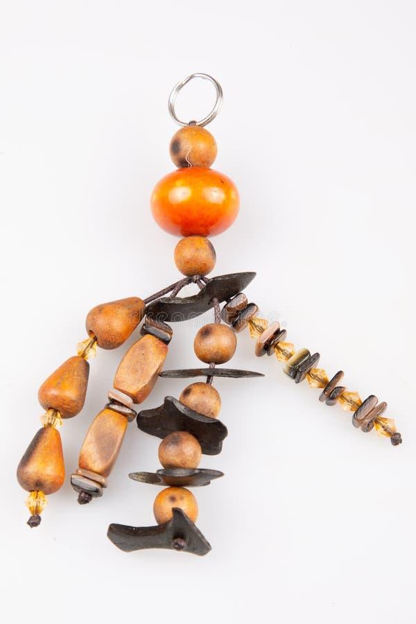 la Chiave-catena con le pietre preziose insacca il keychain del pendente fotografie stock libere da diritti