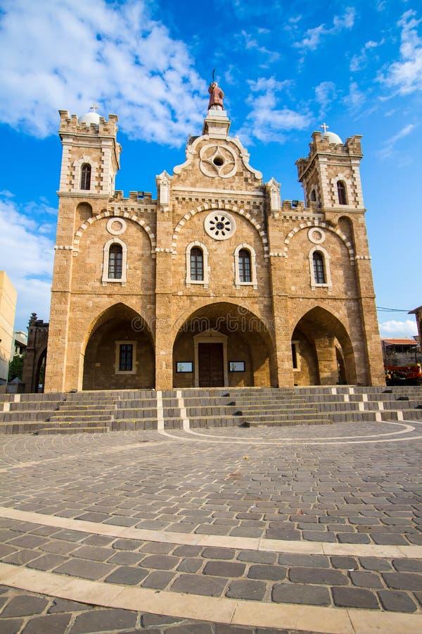 La chiesa in Batrun, Libano di St Stephen immagine stock