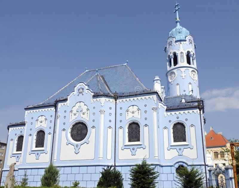 La chiesa (blu) della st Elisabeth di art deco a Bratislava immagini stock