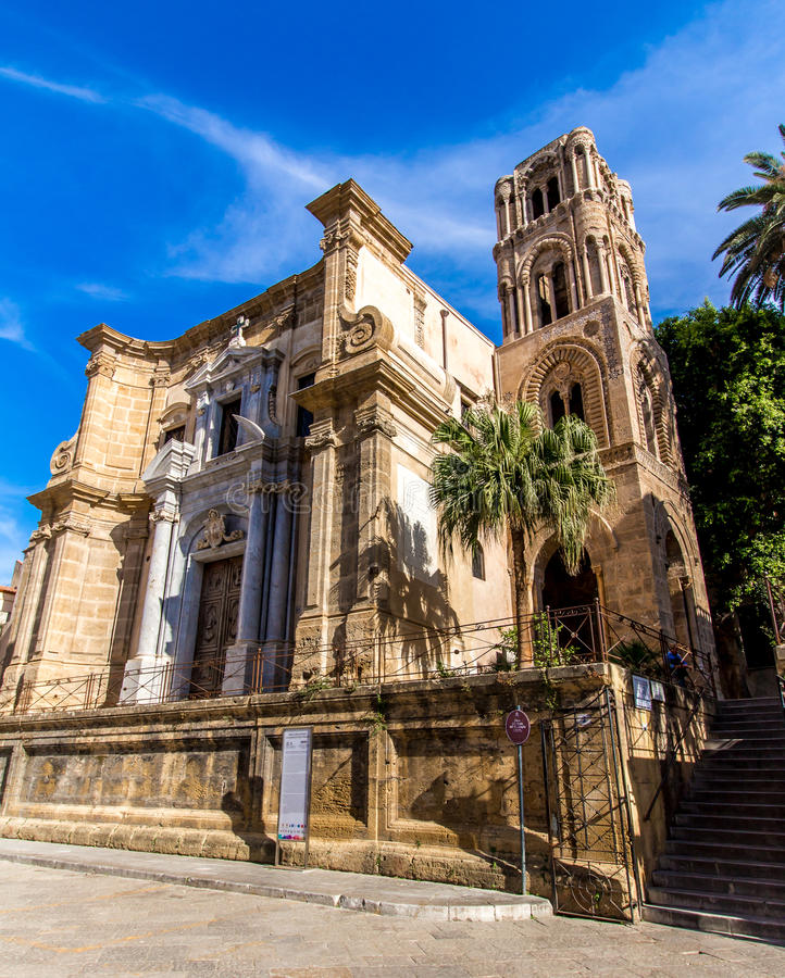 La chiesa del ` Ammiraglio del dell di Santa Maria, a Palermo, l'Italia immagine stock libera da diritti