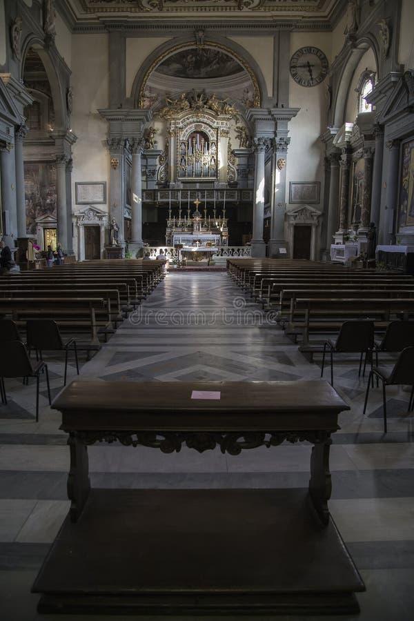 La chiesa del monastero di San Marco - un dominicano anziano Mona fotografie stock
