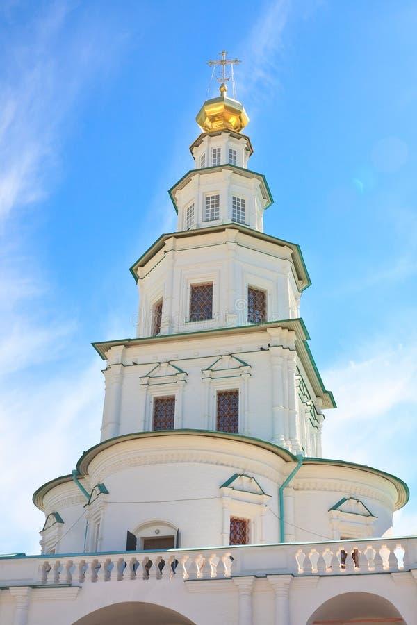 La chiesa del portone Nuovo monastero di Gerusalemme, Istra immagini stock