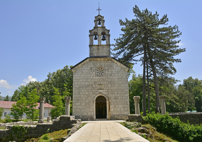 La chiesa della corte in Cetinje fotografia stock