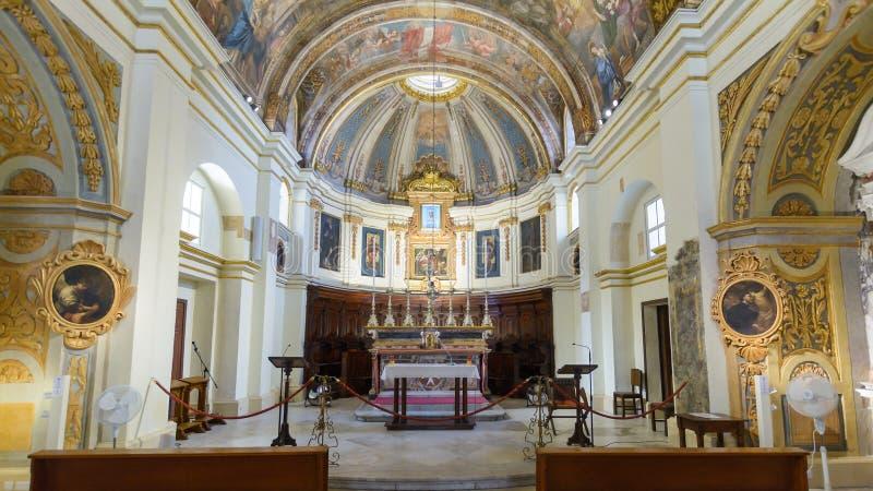 La chiesa della nostra signora di Victory Altar immagine stock libera da diritti