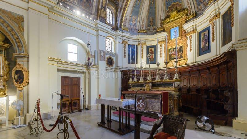 La chiesa della nostra signora di Victory Altar - parte di sinistra fotografia stock libera da diritti