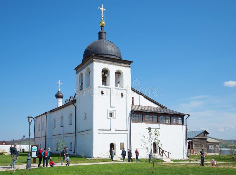La chiesa della st Sergius di Radonezhkiy in St John il monastero del battista Sviyazhsk immagine stock