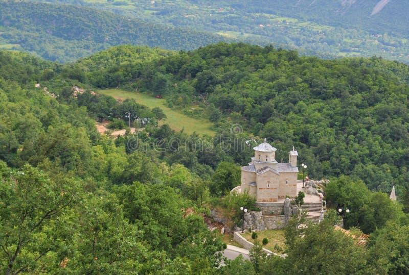 La chiesa della st Stanko - valle di Bjelopavlici fotografia stock