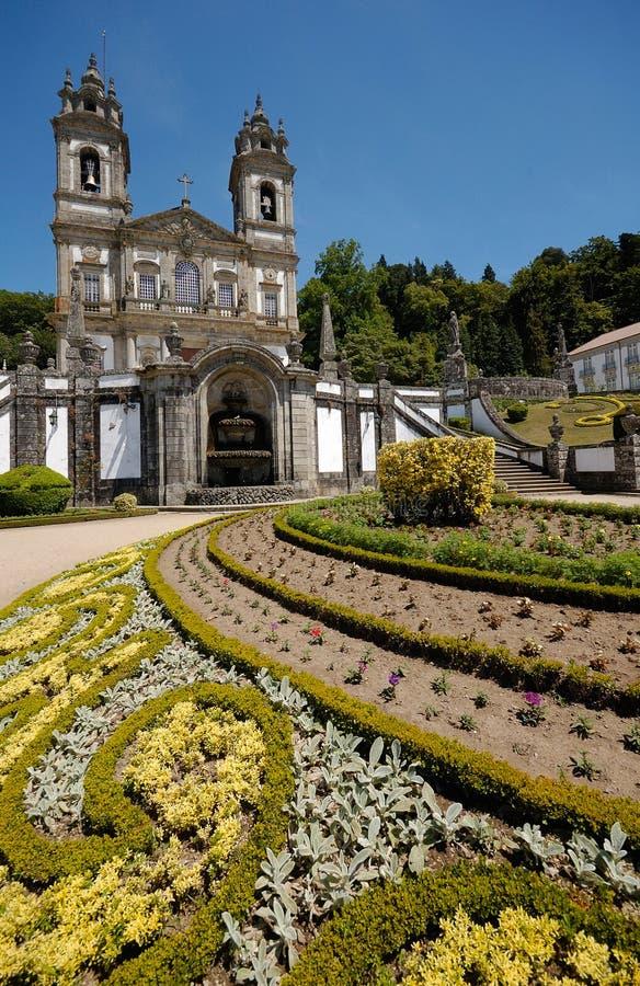 La chiesa di Bom Jesus fa Monte, Braga, Portogallo fotografia stock libera da diritti