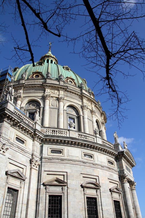 La chiesa di Frederik, Copenhaghen fotografia stock