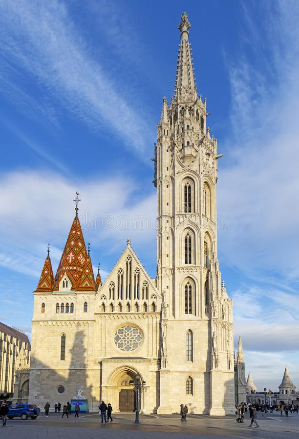 La chiesa di Matthias a Budapest Ungheria Europe fotografia stock