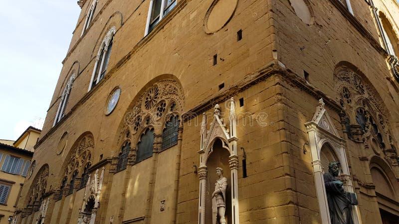 La chiesa di Orsanmichele, la chiesa del Arti, le cooperative fiorentine antiche immagini stock