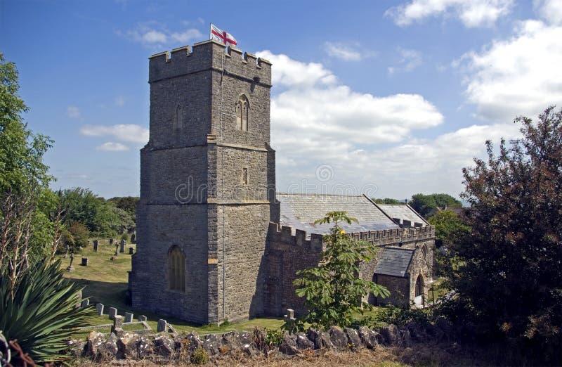 La chiesa di parrocchia di Berrow fotografia stock
