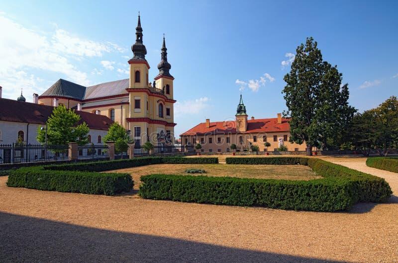 La chiesa di Piarist della scoperta è chiesa barrocco è stata costruita 1714 e 1725 dall'architetto italiano Giovanni Battista Al fotografia stock libera da diritti