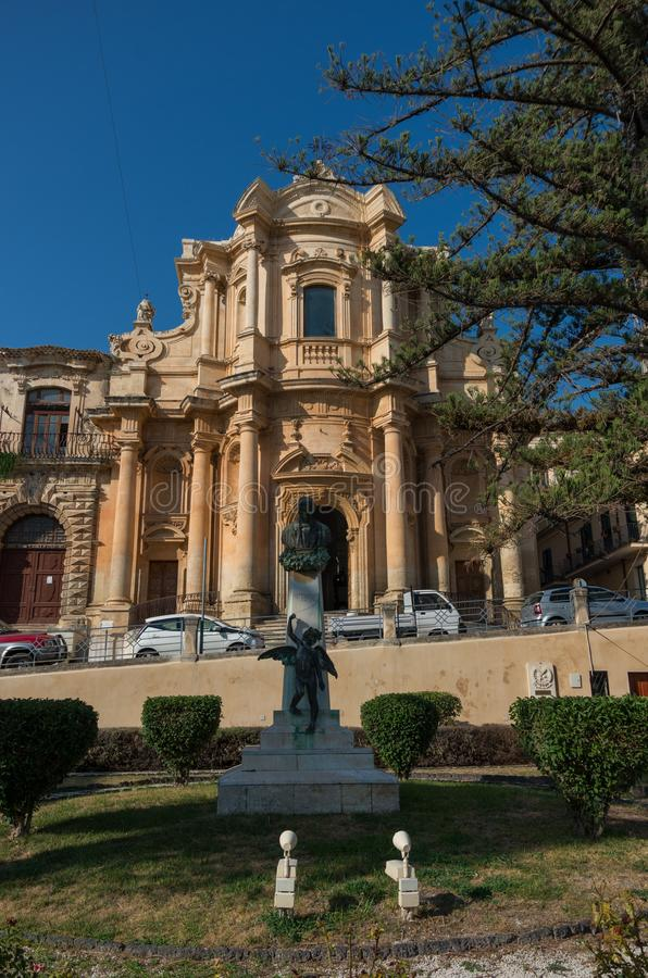La chiesa di San Domenico in Noto, Sicilia fotografie stock libere da diritti