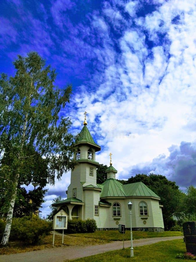 La chiesa di San Nicola il Wonderworker in Imatra fotografie stock