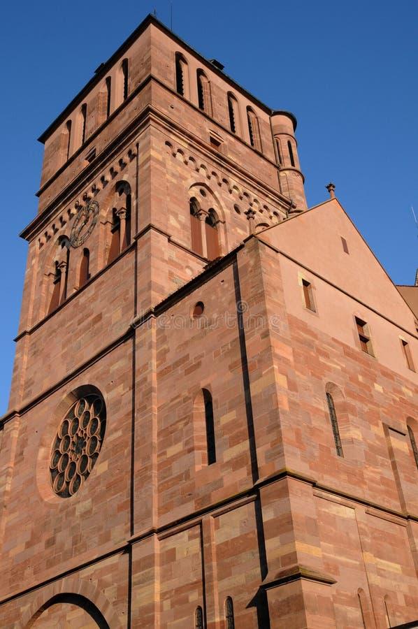 La chiesa di San Tommaso a Strasburgo immagine stock libera da diritti