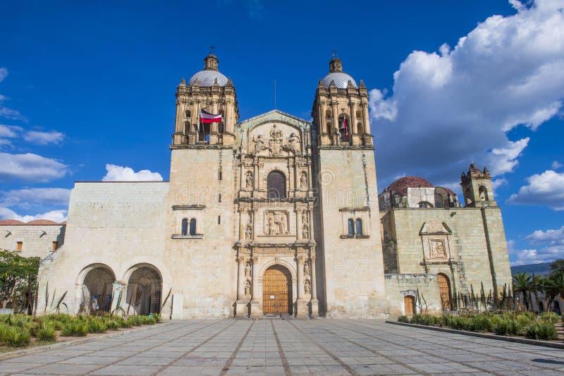 La chiesa di Santo Domingo de Guzman a Oaxaca Messico fotografie stock
