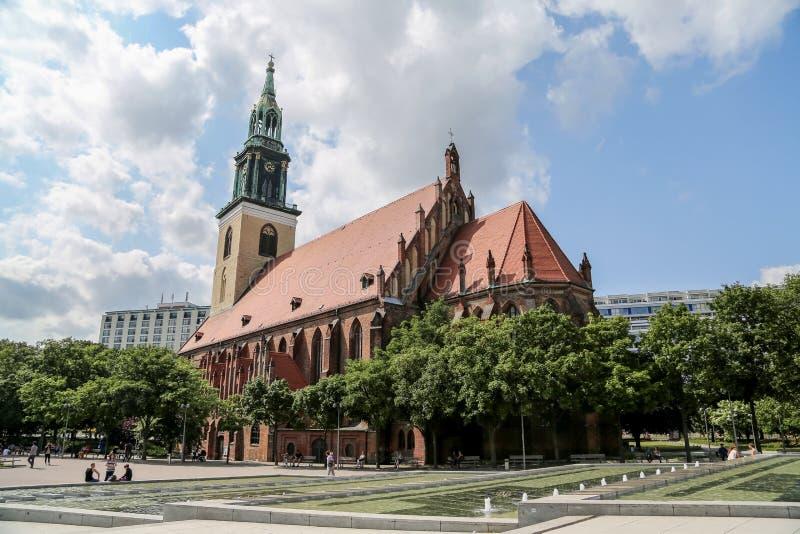 La chiesa di St Mary, Berlino immagine stock libera da diritti