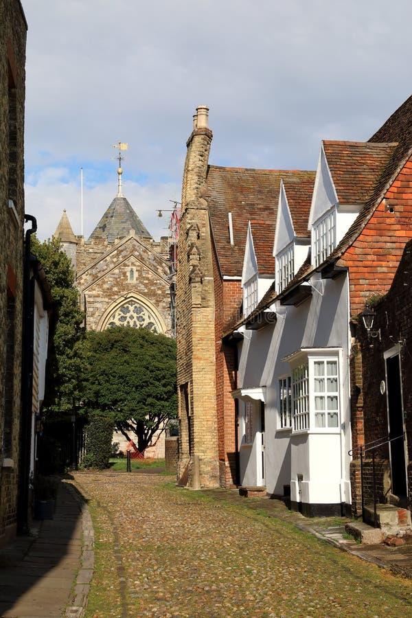 La chiesa di St Mary, la segale, Sussex ha osservato dalla via ad ovest immagini stock libere da diritti