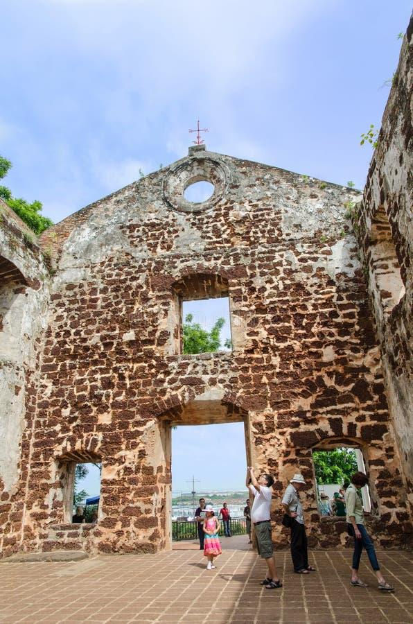 La chiesa di St Paul nel Malacca fotografia stock