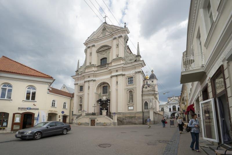 La chiesa di St Theresa a Vilnius fotografie stock