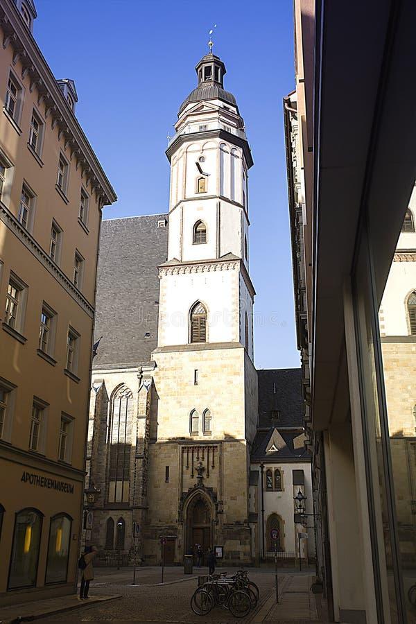 La chiesa di St Thomas in Lipsia, Germania fotografia stock libera da diritti