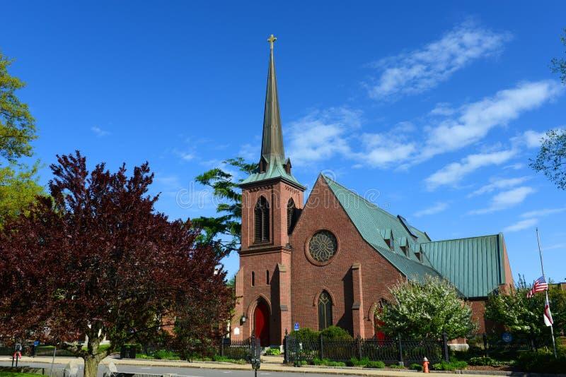La chiesa episcopale di St Paul, accordo, NH, U.S.A. fotografia stock libera da diritti