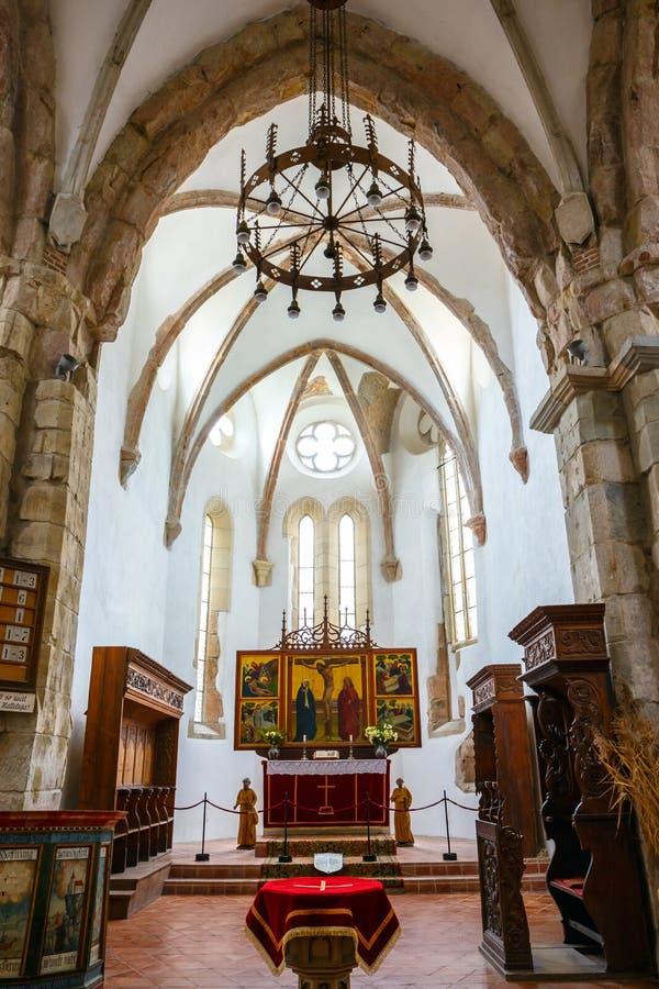 La chiesa fortificata Prejmer vicino a Brasov fotografie stock libere da diritti