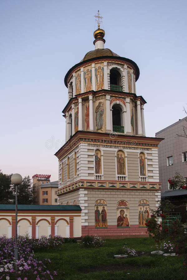 La chiesa a Irkutsk, Federazione Russa fotografie stock